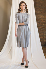 The Everything Dress in Gray Melange