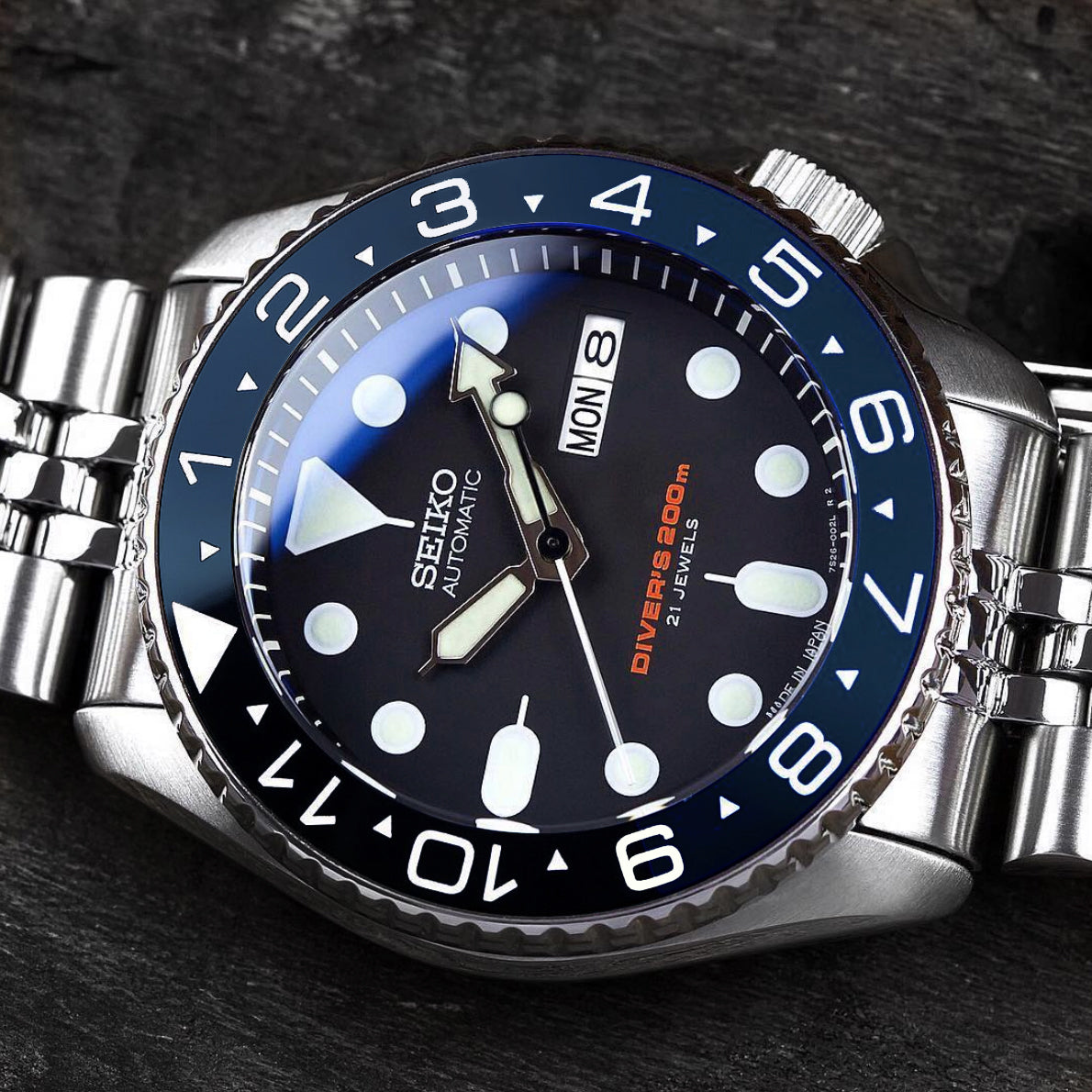 Ceramic Insert - 007 Dual Time Aegean Blue