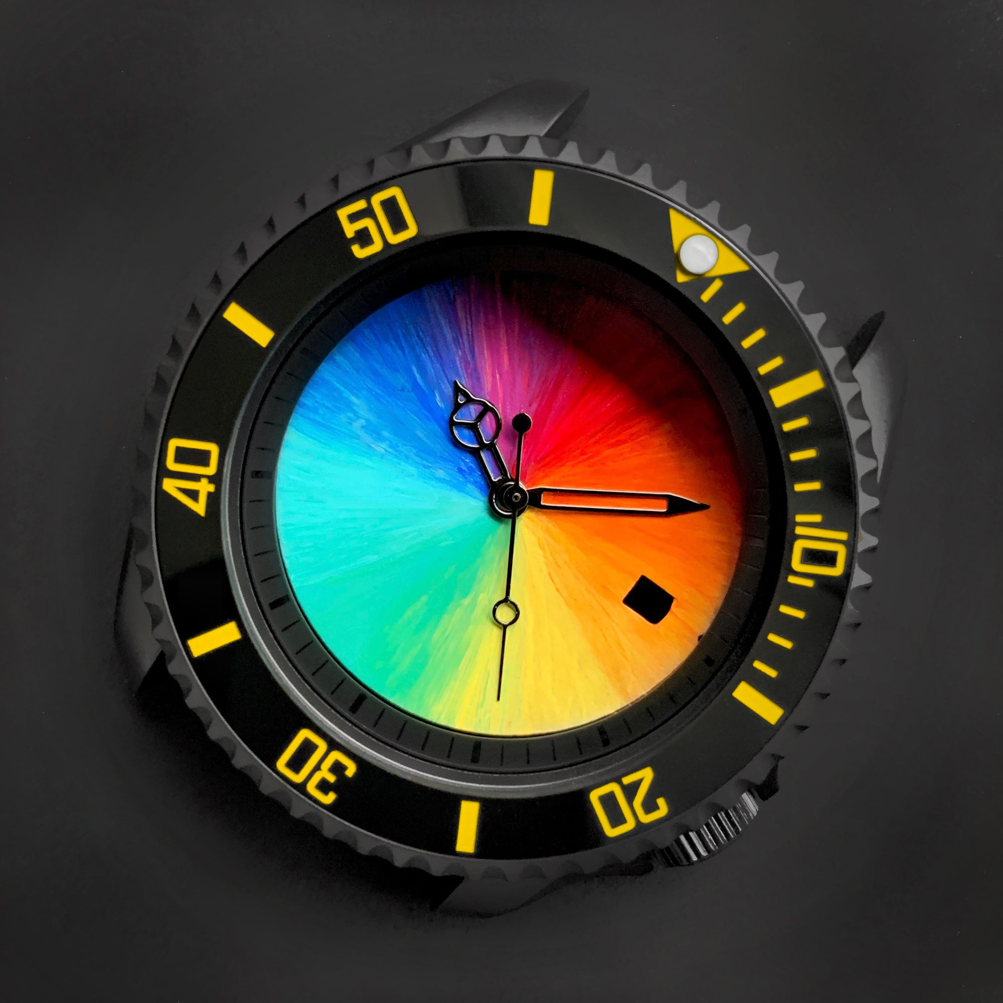 Ceramic Insert - 007 Sub Black X Yellow