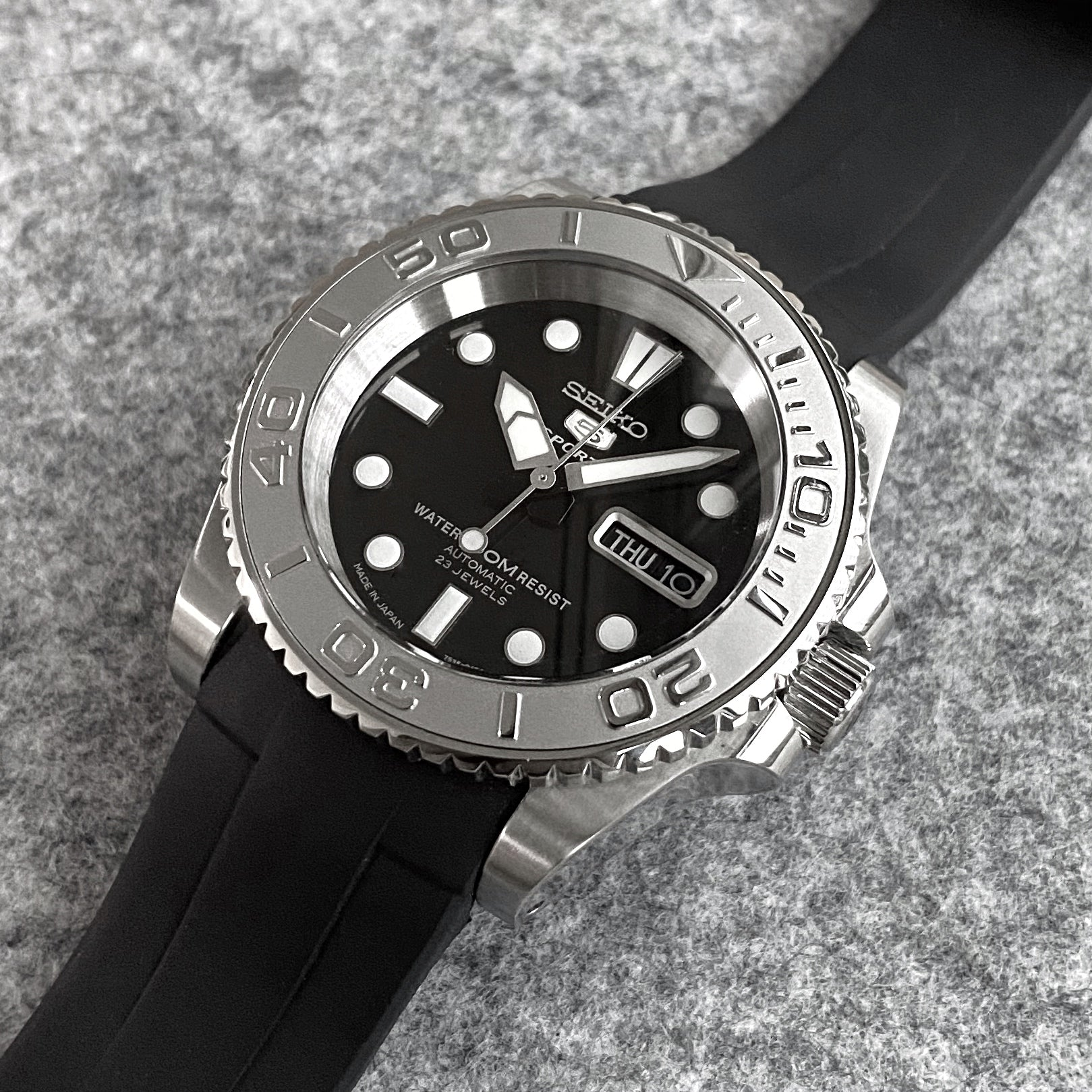 Case - SKX007 Sub - Polished Steel (With Case Back)