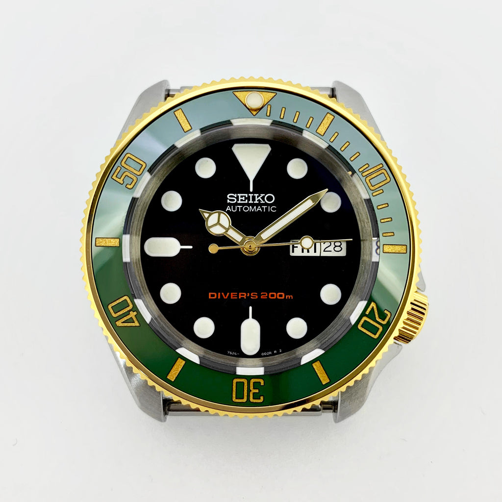 Bezel - SKX007 Coin Edge - Polished PVD Gold