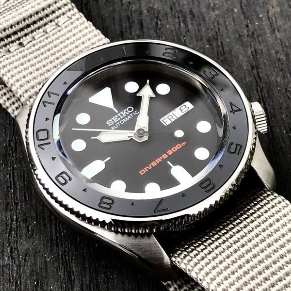 Ceramic Insert - SKX Dual Time Stealth