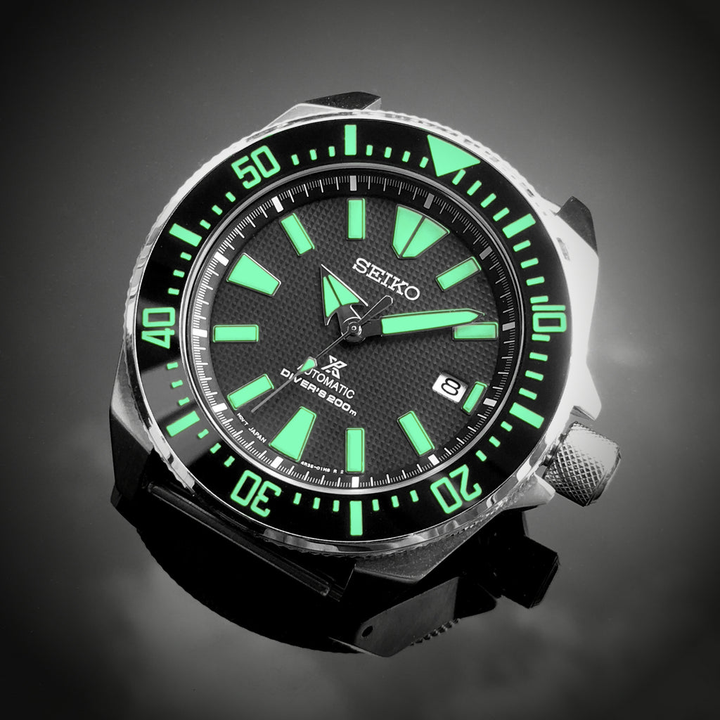 Ceramic Insert - Samurai Black - Luminous Green