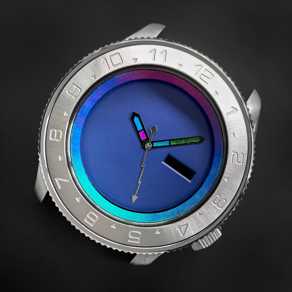 Steel Insert - 007 Dual Time - Brushed ICE