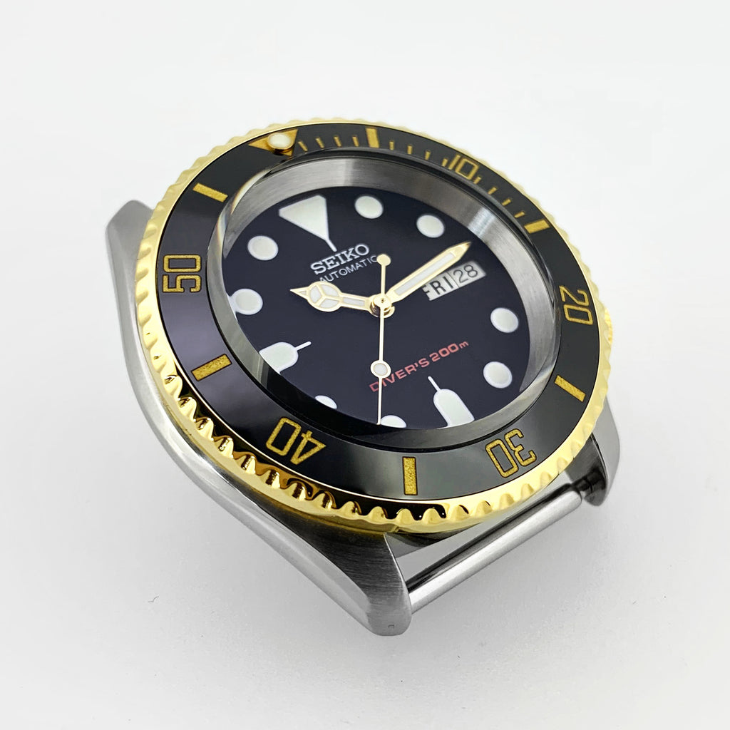 Ceramic Insert - 007 Sub Black X Gold
