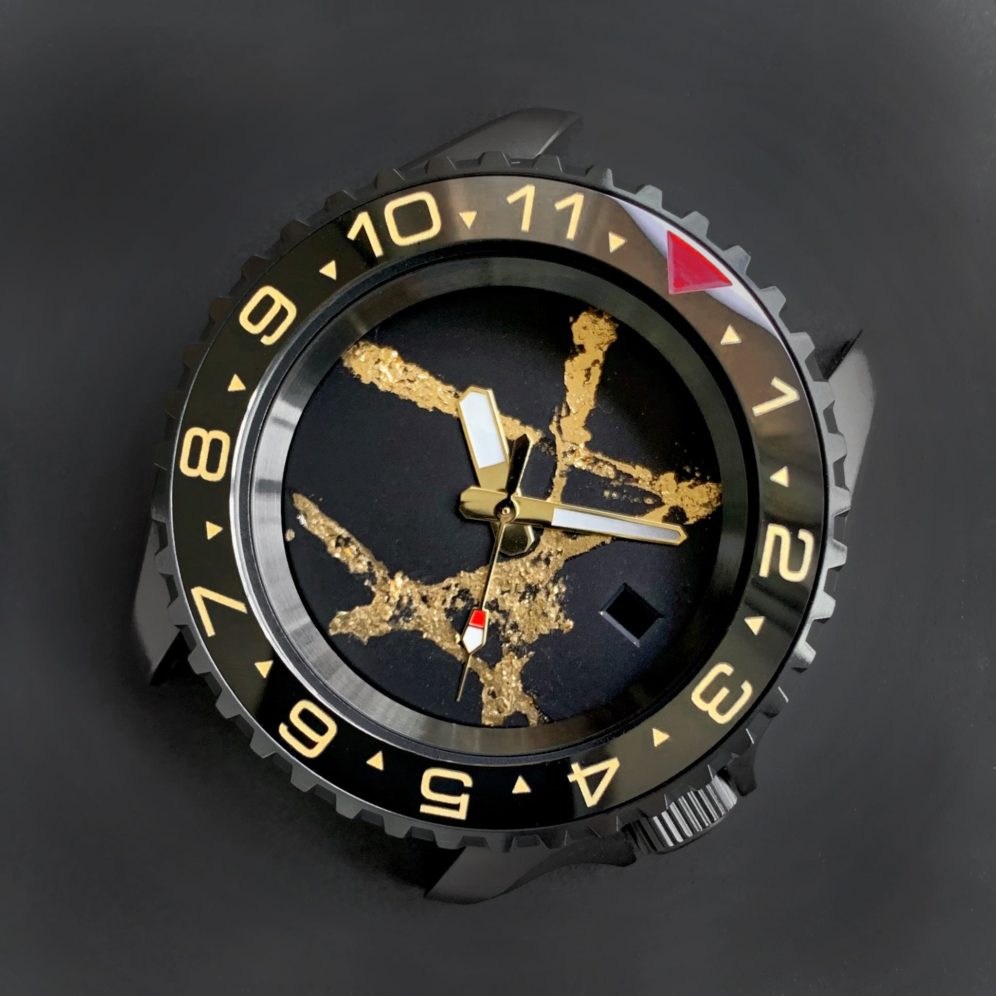 Ceramic Insert - 007 Dual Time Red T Black X Gold