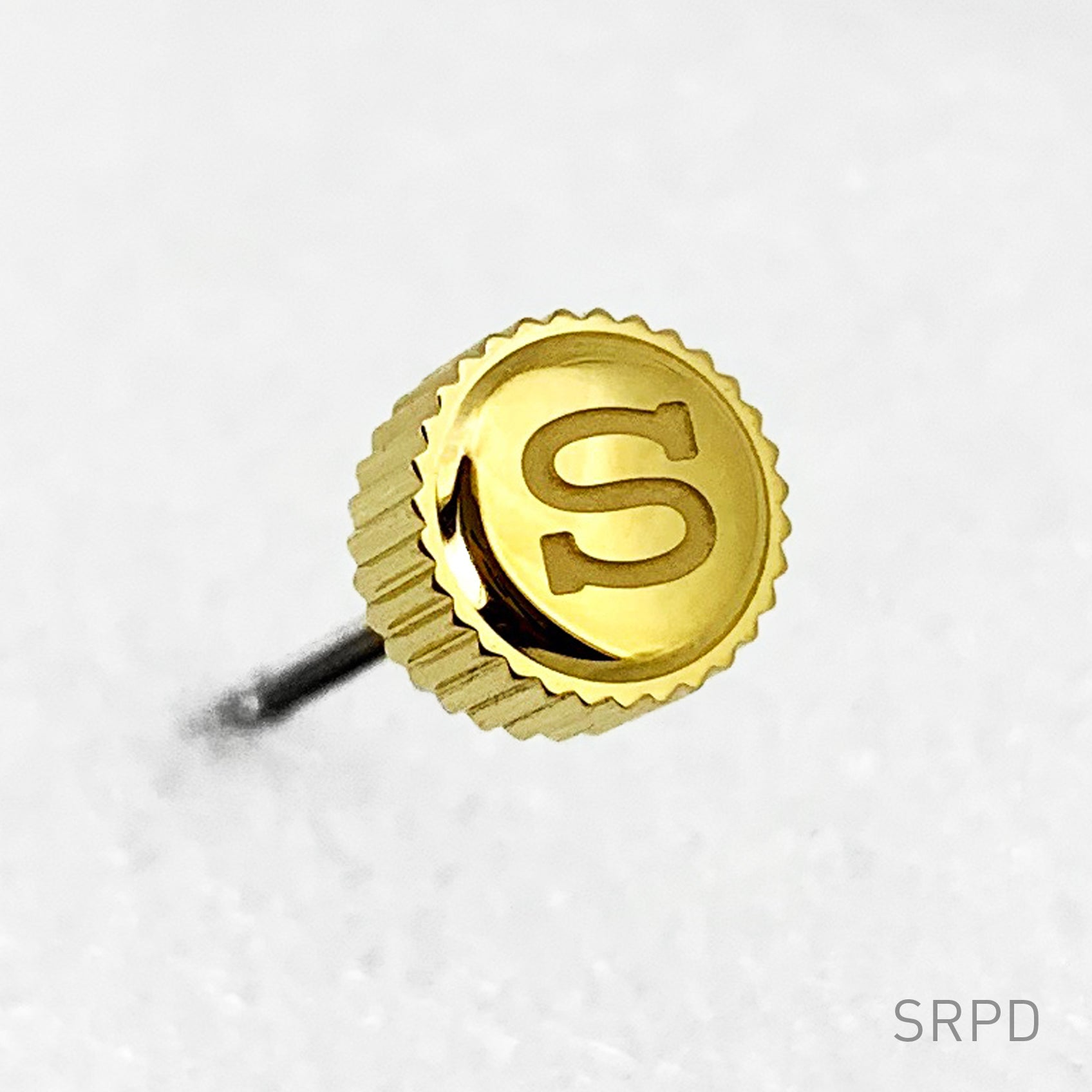 "Crown - SRPD - Polished PVD Gold - ""S"""