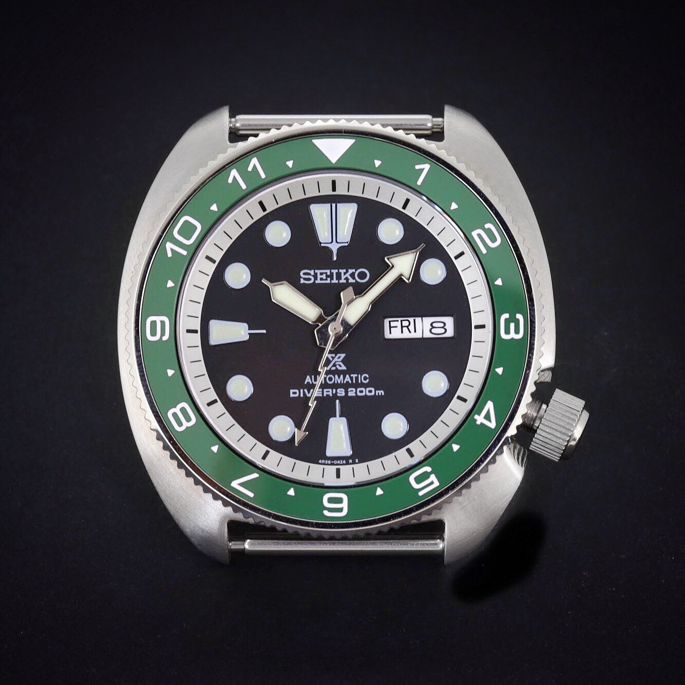 Ceramic Insert - SRP Turtle Dual Time Green