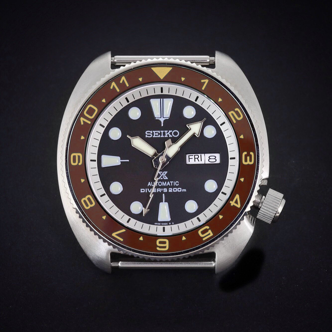 Ceramic Insert - SRP Turtle Dual Time Umber X Gold