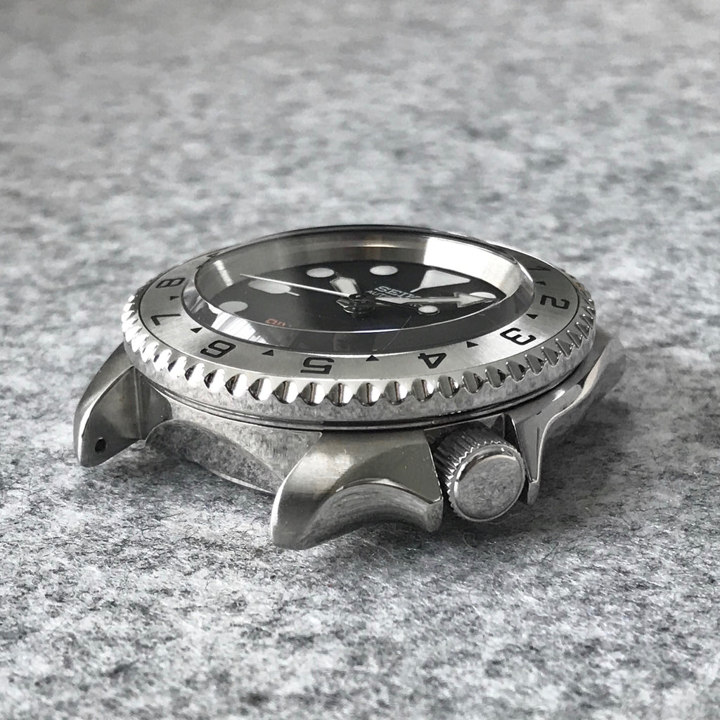 Steel Insert - 007 Dual Time - Brushed Steel