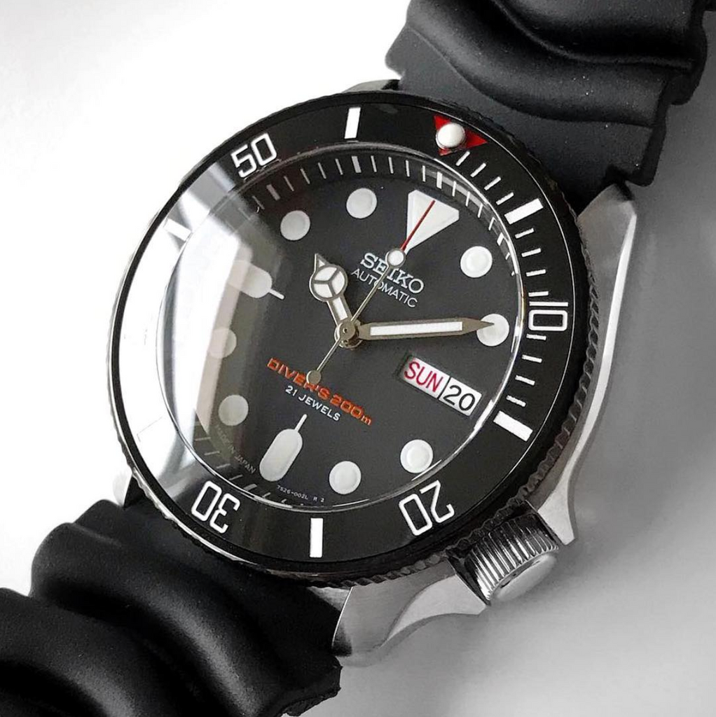 Bezel - SKX007 Coin Edge - Polished PVD Black