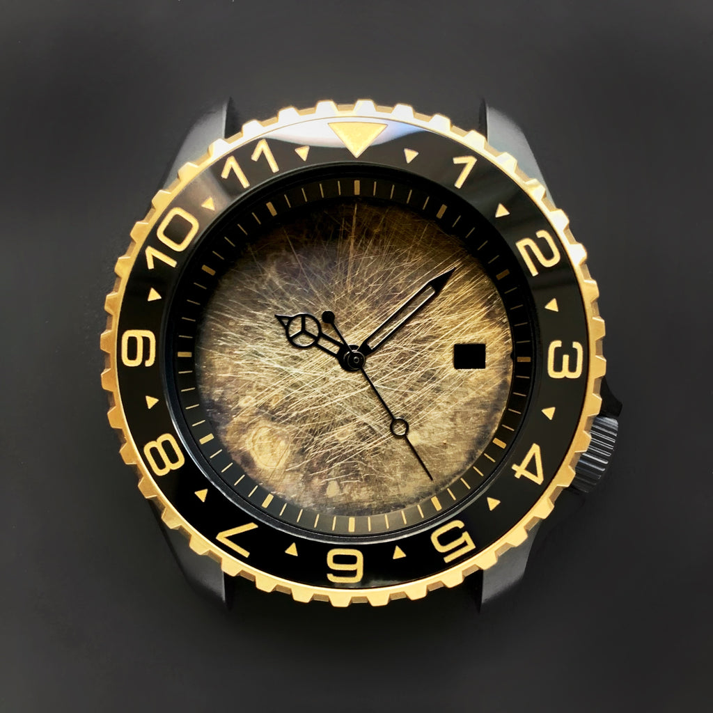 Ceramic Insert - 007 Dual Time Black X Gold