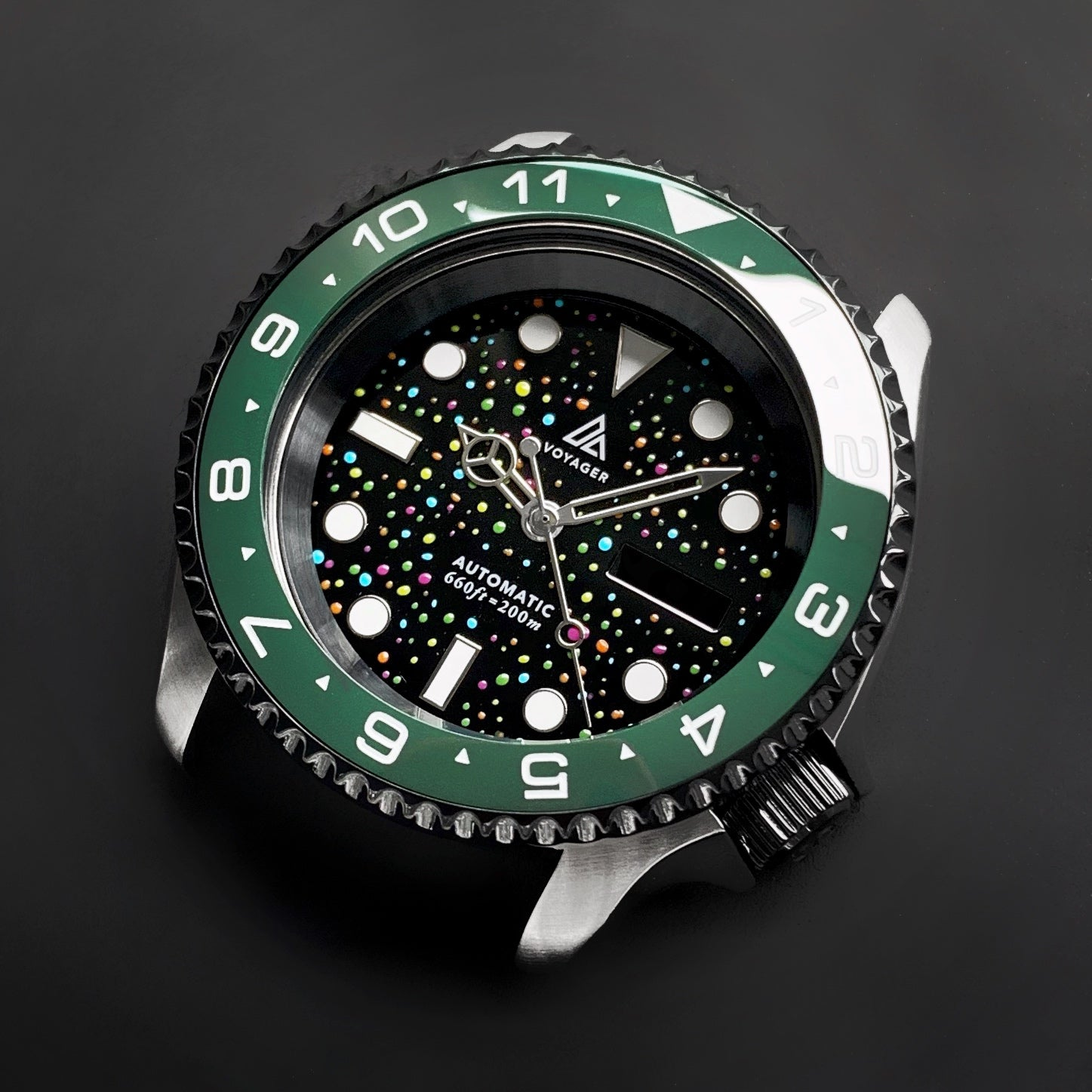 Ceramic Insert - 007 Dual Time Green