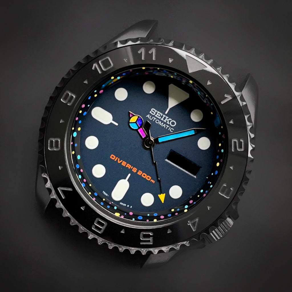 C.R. - SKX007 - Hand Painted Series - Specks (Polished Black)
