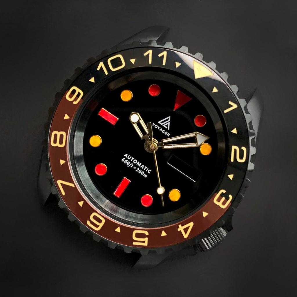 Ceramic Insert - 007 Dual Time Root Beer X Gold