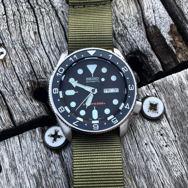 Ceramic Insert - SKX Dual Time Black