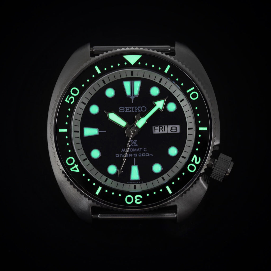 Ceramic Insert - SRP Turtle Black - Luminous Green