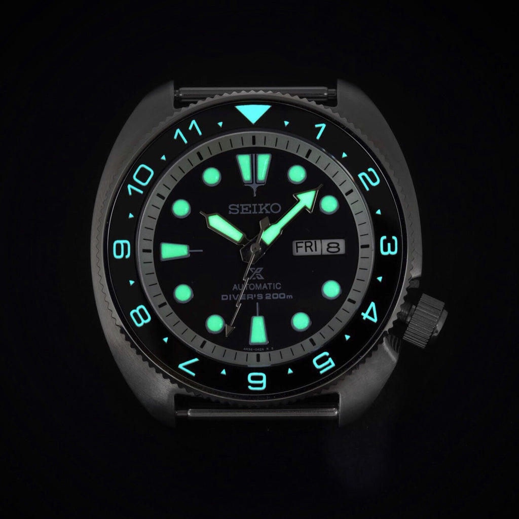 Ceramic Insert - SRP Turtle Dual Time Black - Luminous Aquaris
