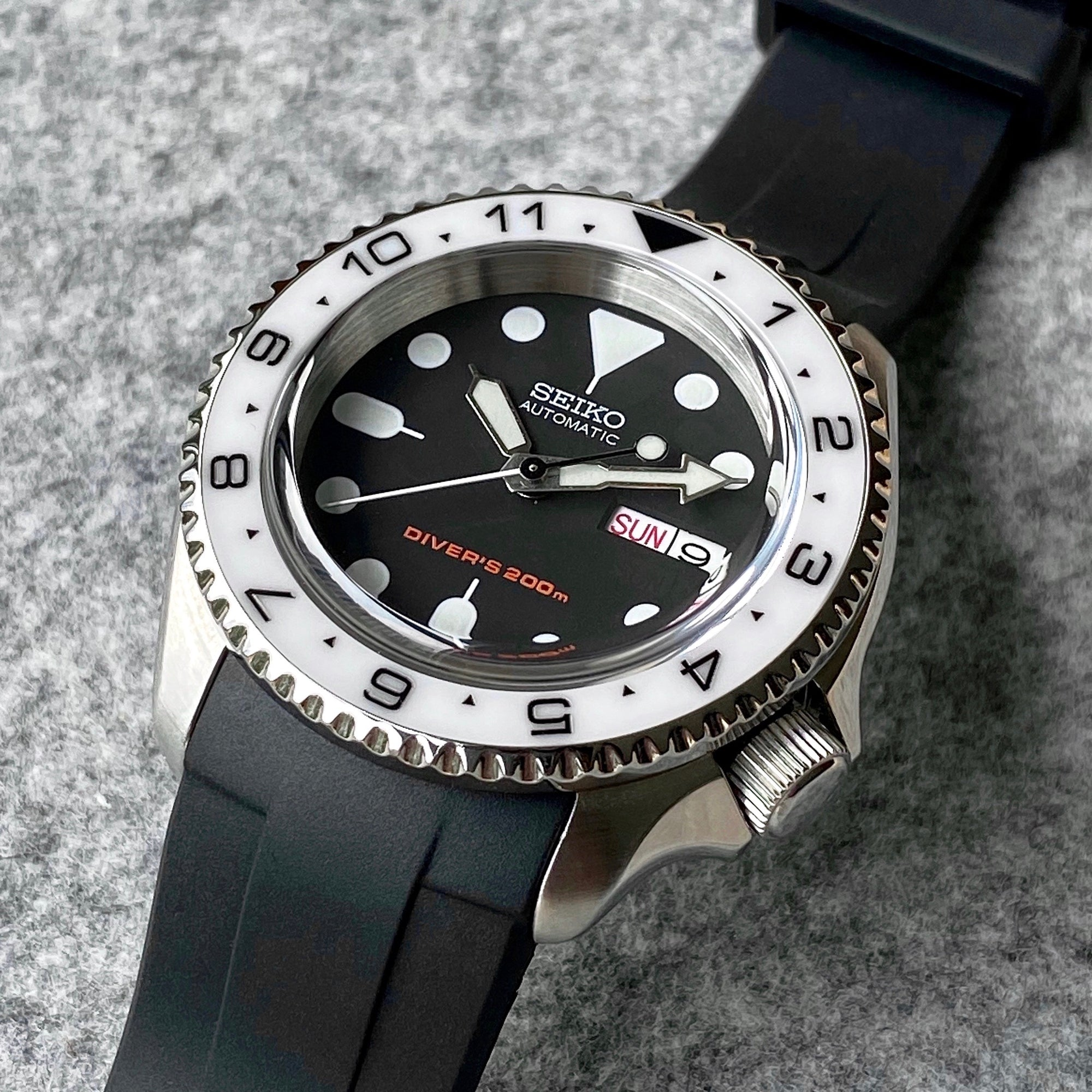 Ceramic Insert - SKX Dual Time White
