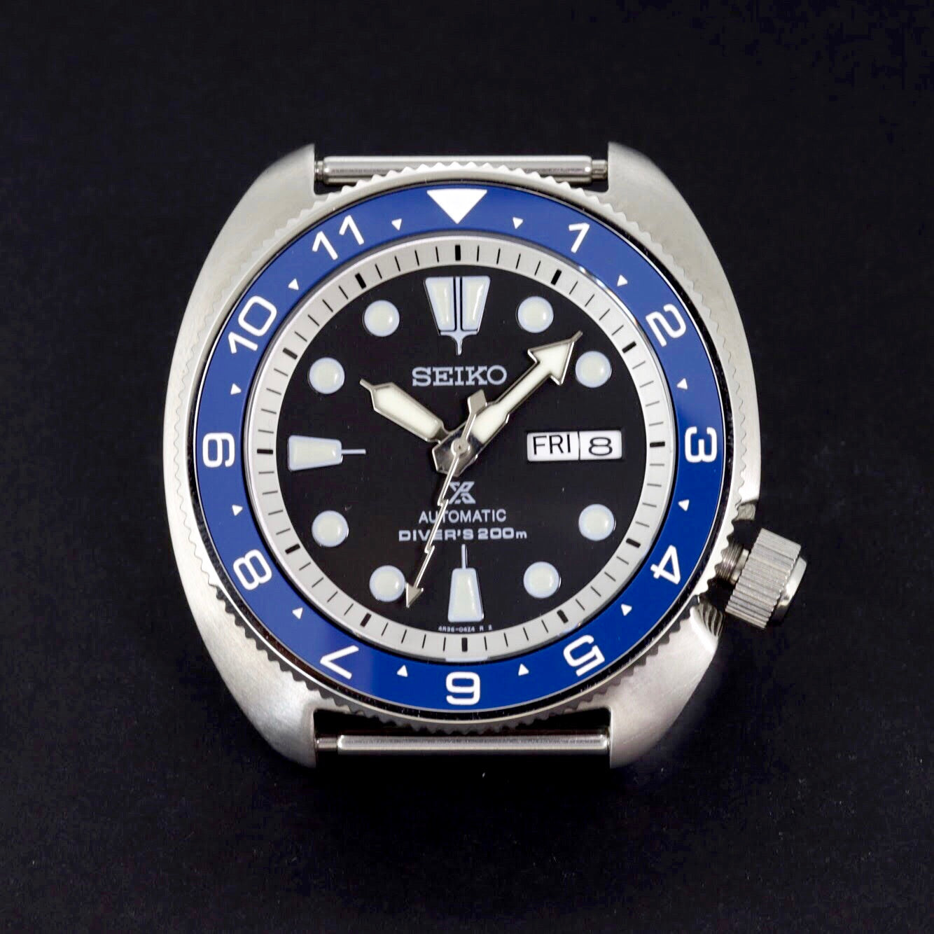 Ceramic Insert - SRP Turtle Dual Time Blue