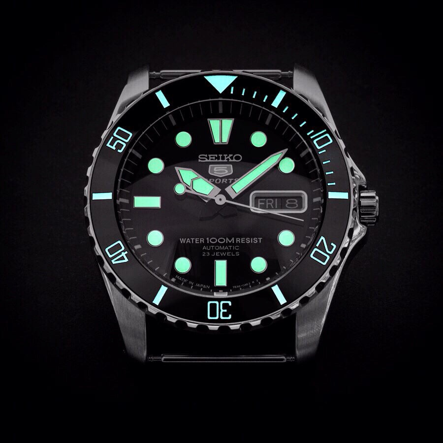 Ceramic Insert - Urchin Sub Black - Luminous Aquaris