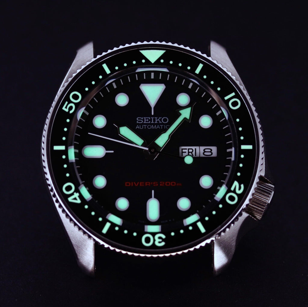 Ceramic Insert - SKX Black - Luminous Green