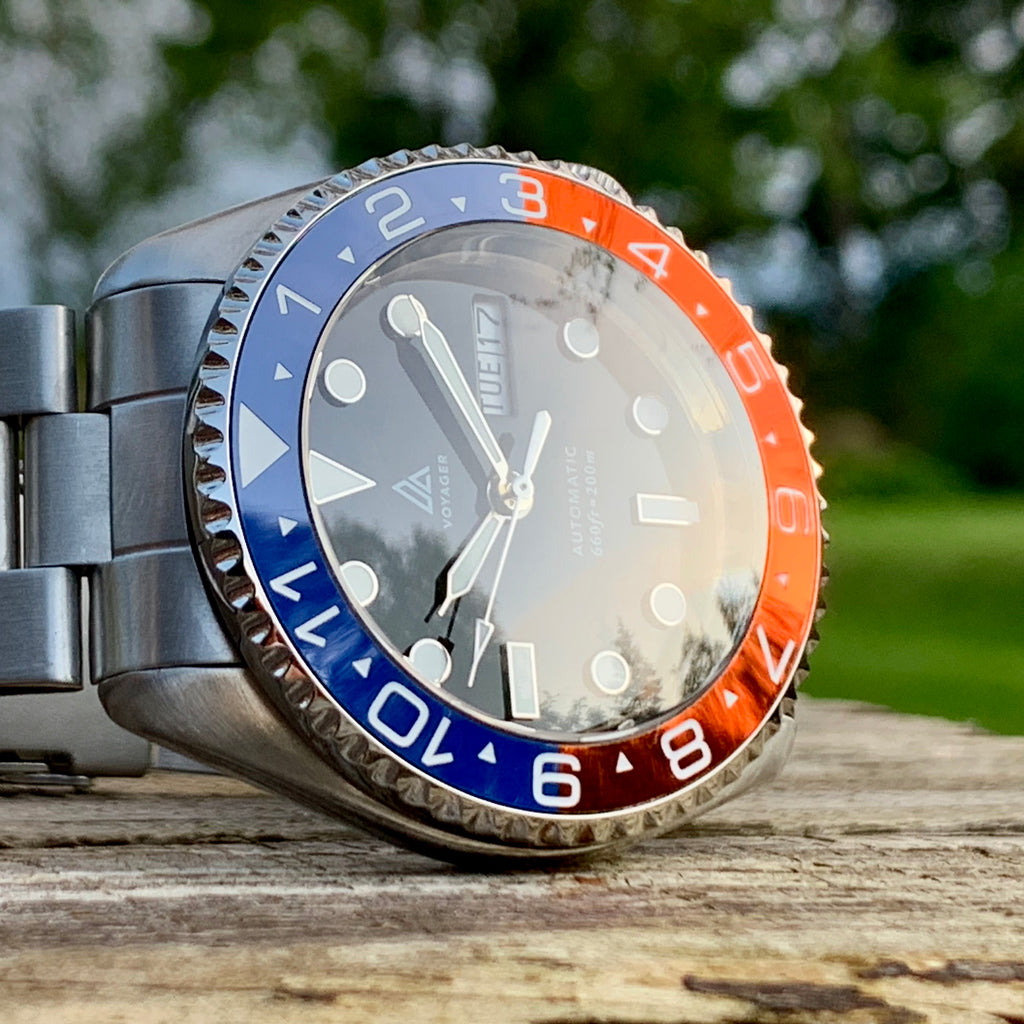 Ceramic Insert - 007 Dual Time Pepsi (Sunset)