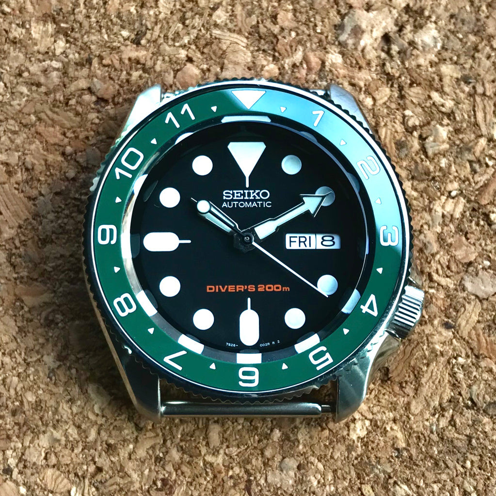 Ceramic Insert - SKX Dual Time Green