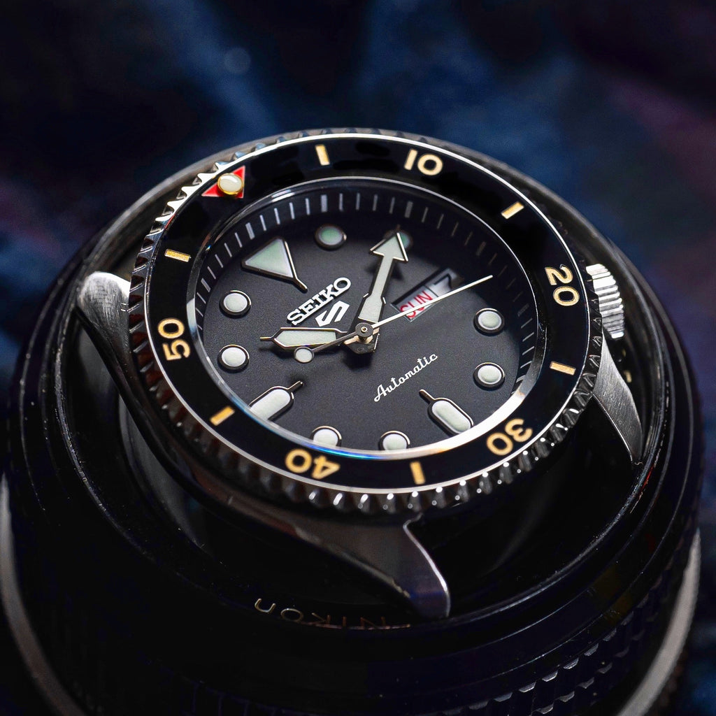 Ceramic Insert - SKX Red T Black X Gold