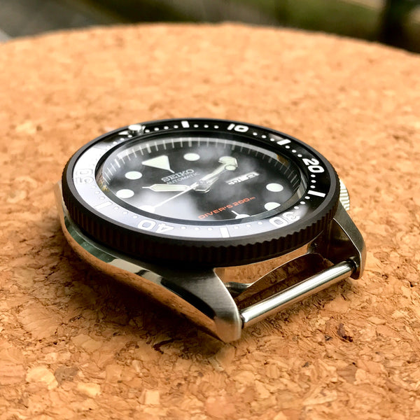 Bezel - SKX007 Coin Edge - Bead Blasted PVD Black