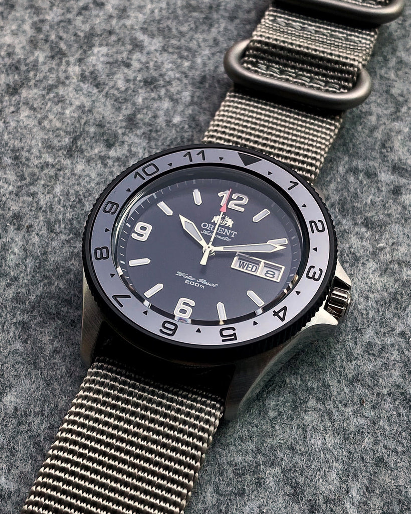 Bezel - Orient Mako & Ray Coin Edge - Bead Blasted PVD Black
