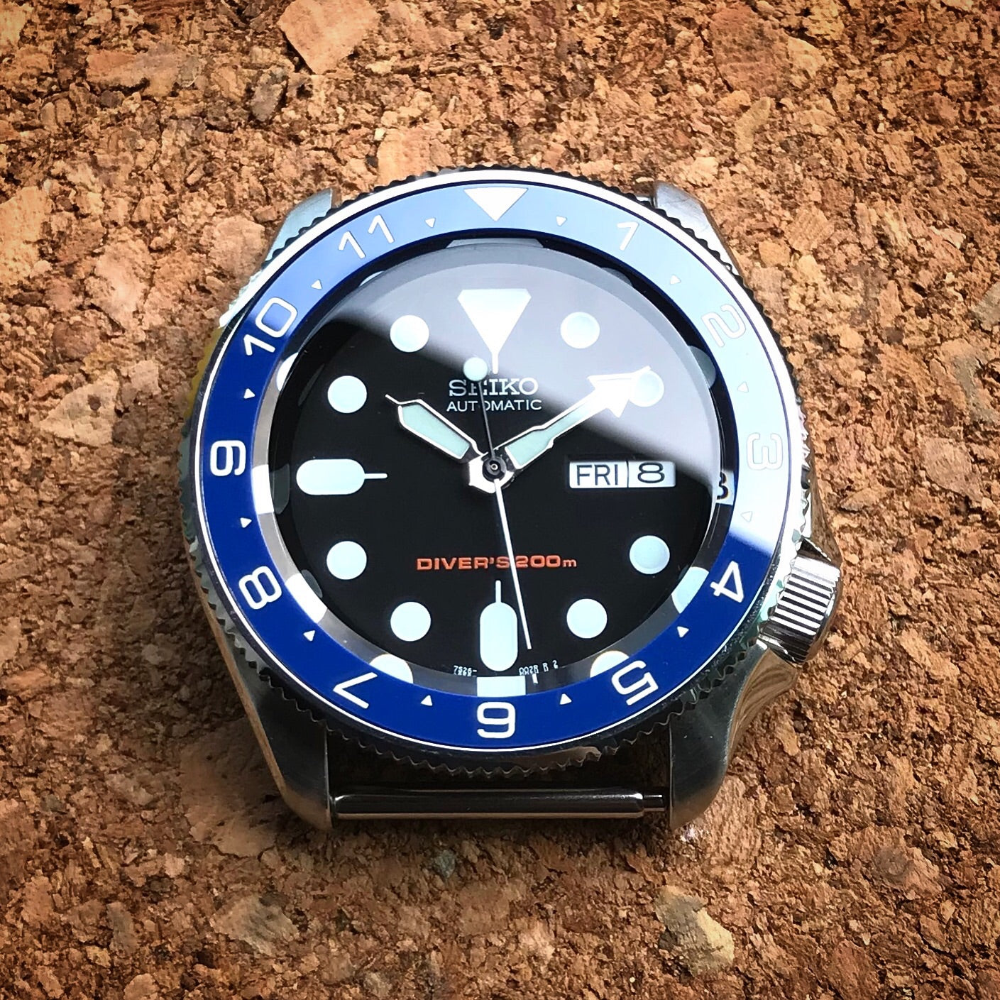 Ceramic Insert - SKX Dual Time Blue