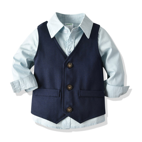 Boys British Style Banquet Dress Set 2-8T