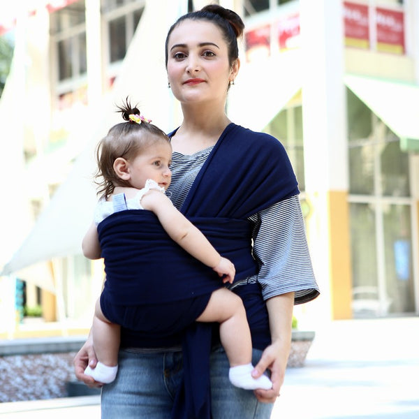 Baby Wrap Carrier- Elegant Dark-www.my-baby-world.com