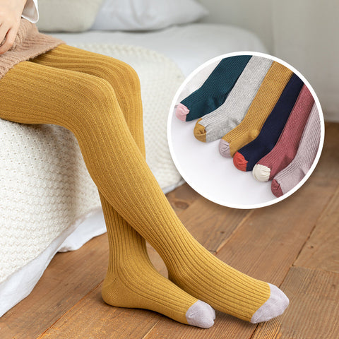 Kids Knitted Combed Cotton Winter Tights 1-8T (10 Colors)