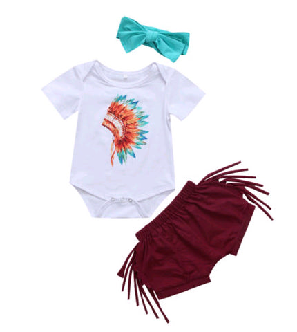 Mishka Indian Baby Girl Set