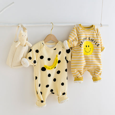 Banana Long-sleeved Jumpsuit (3-24M)