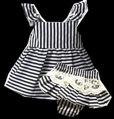 Baby 2pcs Set -  Dress + Briefs