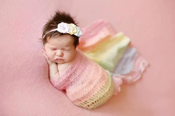 Newborn Baby Mohair Rainbow Wrapping 2 Colors