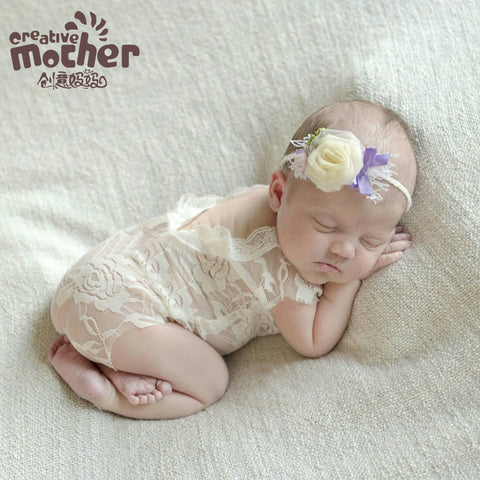 Newborn Lace Photography Jumpsuit
