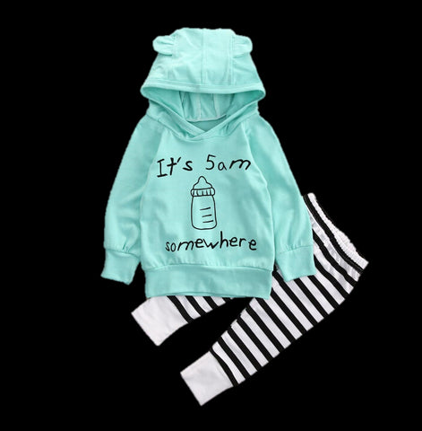Baby 5AM Hoodie 2pc Set