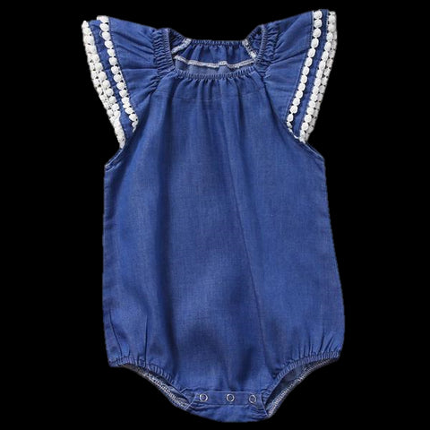 Baby Denim Ruffle Bodysuit-www.my-baby-world.com