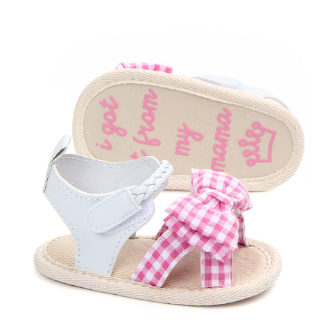 [US Only] Lattice Bow Baby Girl Non-Slip Shoes 3 Colours