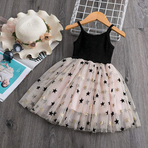 Girl's Star Tutu Dresses With 4 Colors 3-8T