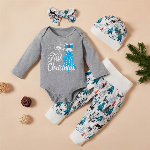 My First Christmas grey Infant Christmas Set 0-18M