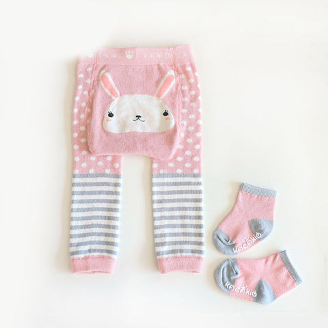 2Pcs/Set Cute Animal Infant Autumn Winter Warm Tight Rose Bunny