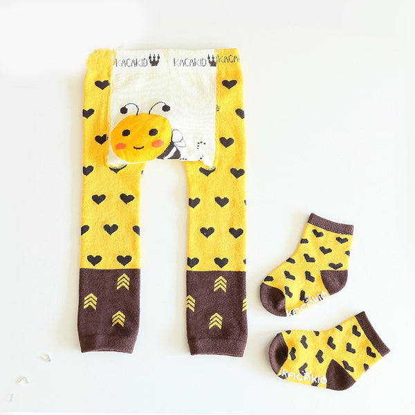 2Pcs/Set Cute Animal Infant Autumn Winter Warm Tight Yellow Bee