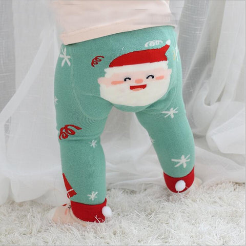 2Pcs/Set Cute Animal Infant Autumn Winter Warm Tight Santa