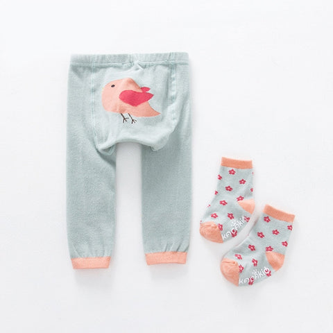 2Pcs/Set Cute Animal Infant Autumn Winter Warm Tight Pink Bird
