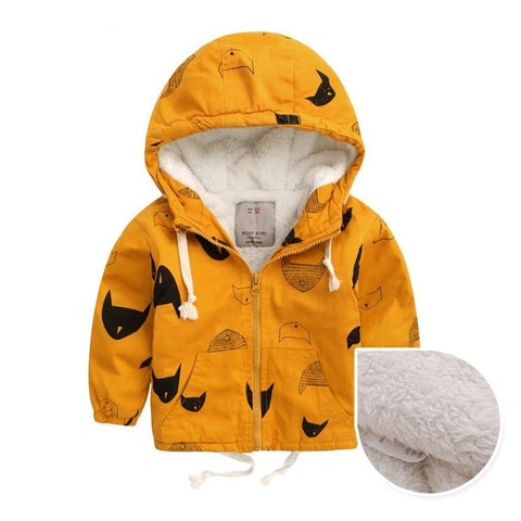 Autumn/ Early Winter Fleece Hooded Coat 2-10T